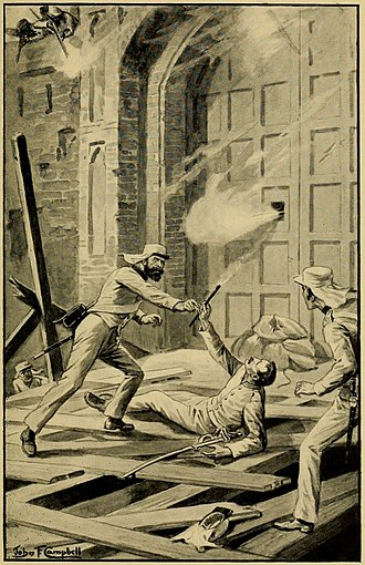 Siege of Delhi - Blowing of Kashmir by Sergeant Carmichael