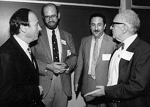 Lew Rockwell - Burton Blumert, Rockwell, economist and philosopher David Gordon, and Murray Rothbard.