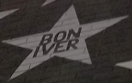 Bon Iver's star on the outside mural of Minneapolis nightclub First Avenue Bon Iver - First Avenue Star.jpg