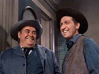Robert Middleton - Robert Middleton (left) with Peter Leeds in the TV series Bonanza (1960)