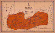 Old map of Bontoc sub-province of Mountain Province in 1918
