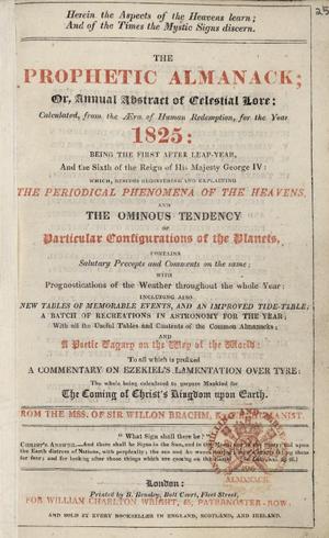 Almanac - An English Prophetic Almanack, 1825