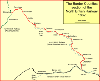 Border Counties Railway - The Border Counties Railway system