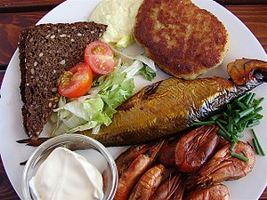 Lunch - A lunch on the Danish island of Bornholm