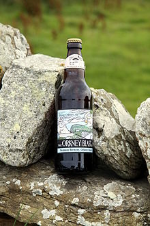 Bottle of Orkney Blast beer.JPG