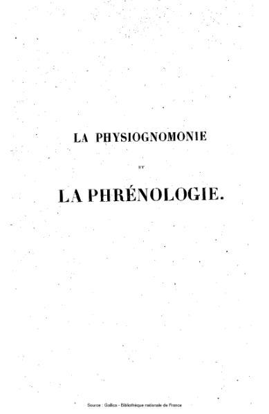 File:Bourdon - La Physiognomonie et la phrénologie.djvu