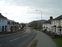 Bow Street, looking south towards Aberystwyth