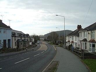 Bow Street, Ceredigion - Bow Street, looking south towards Aberystwyth