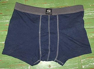 Boxer briefs mens underpants, with legs like boxer shorts but tight-fitting like briefs