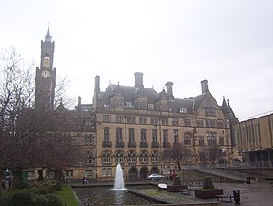 Bradford City Hall located in the centre of Br...