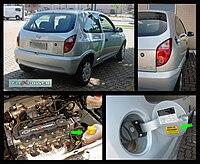 Chevrolet Celta brasiliana con motore FlexPower, funziona con qualsiasi percentuale di benzina e bioetanolo.