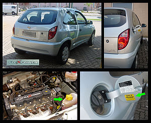 Chevrolet Celta - Details of the flex fuel version of the Chevrolet Celta