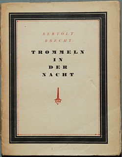 <i>Drums in the Night</i> Play by Brecht