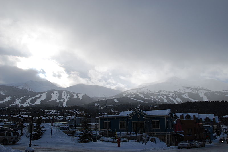 Breckenridge ski resort from downtown