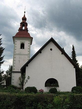 Radegund - Church of St Radegund, Breg (Žirovnica), Slovenia