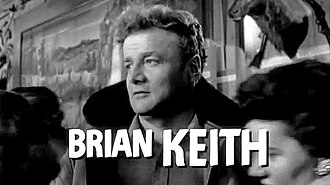 5 Against the House - Brian Keith in the trailer