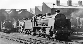 Bricklayers Arms railway station - The main engine shed in 1959