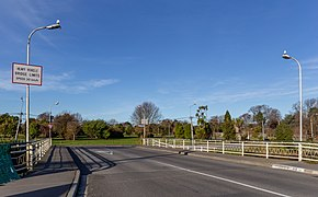 Bridge across Avon River, Swanns Rd, Red Zone, Christchurch, New Zealand.jpg