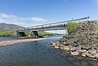 Bridge in Borgarfjörður, taken from Víknaslóðir Trail in Eastern fjords, Iceland 22.jpg