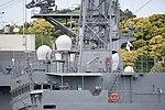 Bridge of JS Nichinan(AGS-5105) left side view at JMSDF Yokosuka Naval Base April 30, 2018 02.jpg