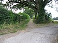 Bridleway becomes metalled road on Spark's Lane near Brook St - geograph.org.uk - 1470726.jpg