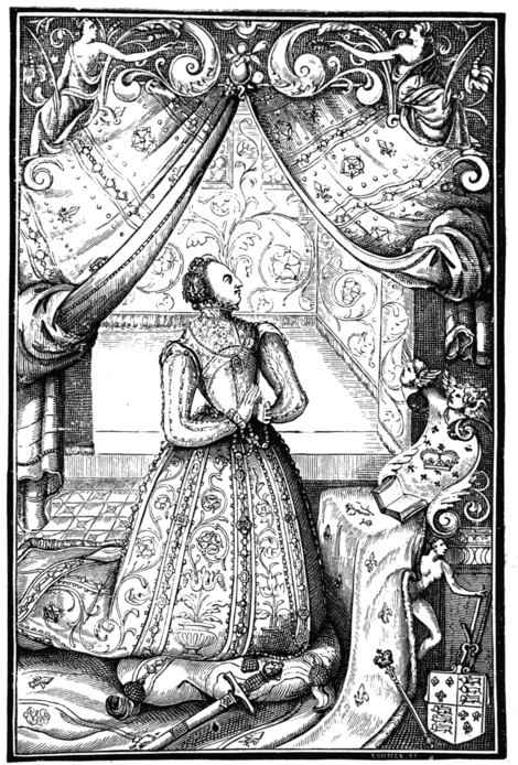 ELIZABETHA REGINA (From 'A Booke of Christian Prayers.' Printed by John Daye, London, 1569.)