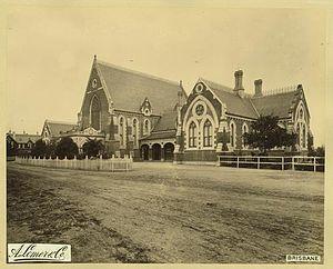 Brisbane Grammar School - The new school on Gregory Terrace, 1889