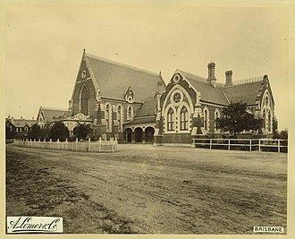 Brisbane Grammar School - The new school on Gregory Terrace, 1889