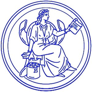 British Academy - The British Academy's royal seal depicts the Greek muse Clio. She was redrawn by designer and illustrator Debbie Cook in 2008.