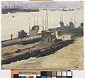 British Mine-laying Submarines, Harwich, 1917 Art.IWMART1259.jpg