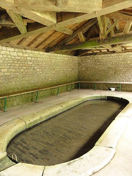 Brocourt-en-Argonne (Meuse) lavoir intérieur
