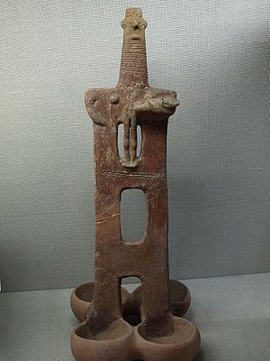 Prehistoric Cyprus - Bronze Age idol from Cyprus Museum, Nikosia. 2400-2000 BCE