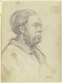 Brustbild eines Mannes nach links mit Gabelbart und Brille (SM 16678z).png