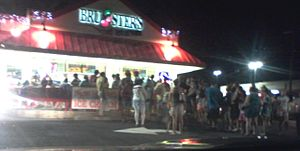 Bruster's Ice Cream - A Bruster's in Gaithersburg, Maryland.