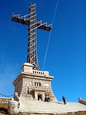 Caraiman Peak - The Heroes' Cross, monument located close to Caraiman Peak