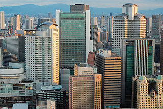 Business District in Osaka Prefecture, Japan