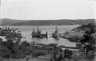 SMS Goeben - Yavuz at Istinye Bay on the European shoreline of the Bosphorus in Istanbul.
