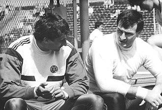 Christian Schenk - Image: Bundesarchiv Bild 183 1989 0528 012, Ulf Timmermann, Christian Schenk im Gespräch