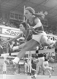 Johanna Klier East German hurdler
