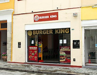 Burger King - A Burger King franchise adapted to operate in the historic district of Oaxaca, Mexico