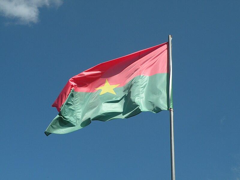 The flag of Burkina Faso in La Gacilly