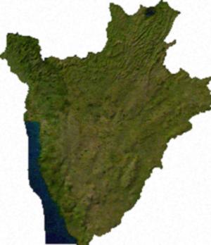 Geography of Burundi - Image: Burundi sat