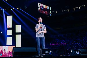 Bystander Revolution - Bystander Revolution Ambassador Lily Collins delivers a speech at We Day Seattle, April 23, 2015.