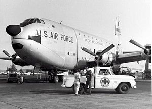 50th Military Airlift Squadron - Douglas C-124 Globemaster II on the flightline