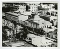 C. 1887 view looking east along south side of 3rd Street incl. former New York Brewery, towards Main (across top). Back left The Thom Block. Back right - Olmsted & Wales bookstore in Panorama Building.jpg
