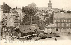 2 ft and 600 mm gauge railways - The Chemins de Fer du Calvados's Caen station in France.
