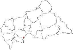 Banguis beliggenhed i den Centralafrikanske republik.
