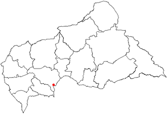 United Nations Security Council Resolution 1155 - Location of Bangui in the Central African Republic
