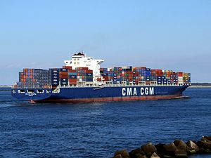 CMA CGM Parsifal p11 approaching Port of Rotterdam, Holland 01-Jan-2005.jpg