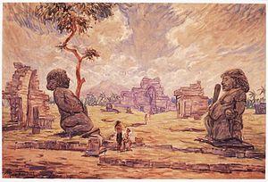 Max Fleischer (painter) - Image: COLLECTIE TROPENMUSEUM Olieverfschildering door Max Fleischer voorstellend de tempelruïne Candi Sewu T Mnr 822 3